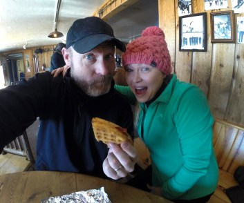 The legendary waffles at Corbet's Cabin! Light, fluffy and so so so tasty! You actually eat 'em with your hands like a sammich!