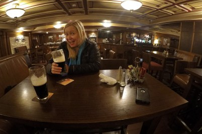 """This was our """"office"""" in Ballyferriter. Had the entire pub/restaurant of the Ceann Sibeal Hotel pretty much to ourselves!"""