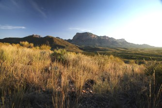 The spectacular Chisos Mountains in the heart of Big Bend National Park. What a sight.