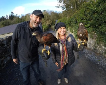 And check it out! Made a couple of fine feathered friends while at Ashford Castle! Spent a couple of hours learning the ancient art of falconry at the Ireland School of Falconry! How stinkin' cool is that?!