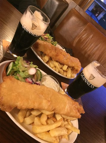 Dinner! Fish and chips!