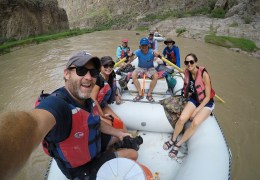 Our intrepid float crew! Thanks for letting us film on your ride guys!!