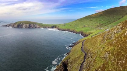 Headed to film a beautiful sunset along the Wild Atlantic Way, along the westernmost point in all of Ireland, a place called Dunmore Head. Gorgeous!