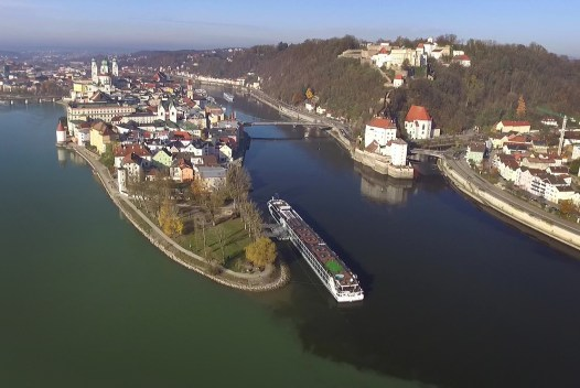 Cool drone shot we got of Passau after the fog lifted! They call Passau the City of Three Rivers! Hmmm... wonder why? :)