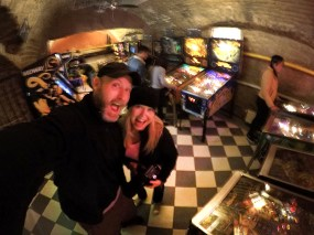 Fun times at the Budapest Pinball Museum! Such a cool place!