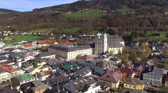 Visited beautiful St. Michael's Church in the charming Austrian town of Mondsee! Look familiar? It should! It was home to the big wedding scene in the movie Sound of Music!