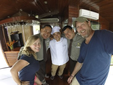 Some of the amazing crew of the Cattleya. Saludos amigos!