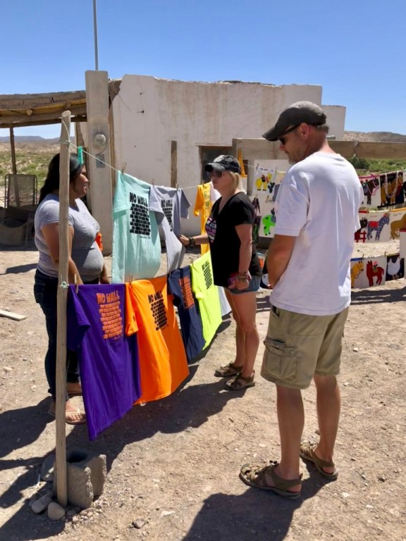 Vendors in the streets of Boquillas.