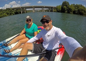 Kayaking through downtown Austin on Lady Bird Lake with our friends at the Texas Rowing Center. Great way to spend a day!