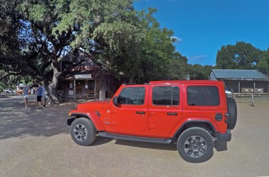 Had an awesome ride around Texas in this super sweet Jeep Sahara from Texas Dodge in Amarillio. Thanks for the wheels y'all! Here she is in legendary Luckenbach!