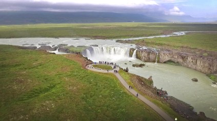 Godafoss Waterfall. Wow!