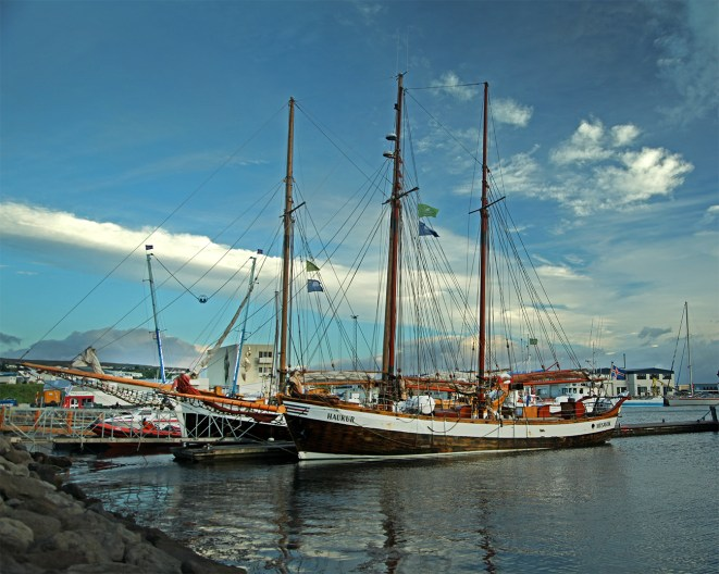 Ship docked in the village of Husavik on the north coast, where we stayed for a night.