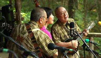 Meet the amazingly talented folks of The Nessie Expedition! A bluegrass band from Japan that traveled all the way to Rosine to play at the festival. So. Cool.