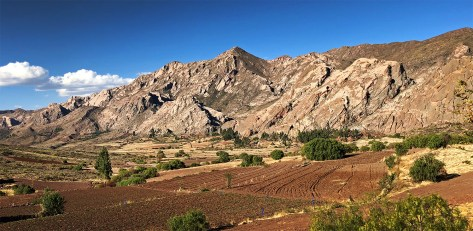The beautiful Bolivian landscape, between Sucre and Potosi.