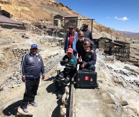 Why did we buy dynamite? For these guys! Some of the miners who work the incredibly dangerous silver mines on Cerro Rico, a massive mountain that looms over the city.