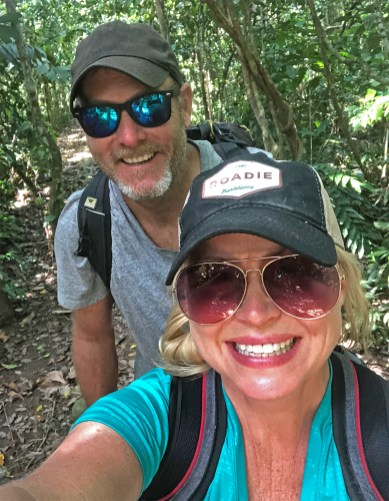 Hiking through the rain forest, looking for trouble. And...
