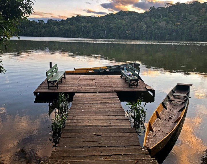 The dock on Chalalan Lake.