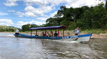 One of the typical boats (like ours) that run the rivers in this part of Bolivia. Pretty comfy really! But after six hours..... well....