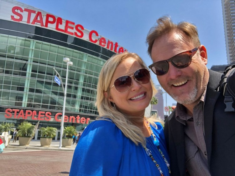 Staples Center. They do big things here.