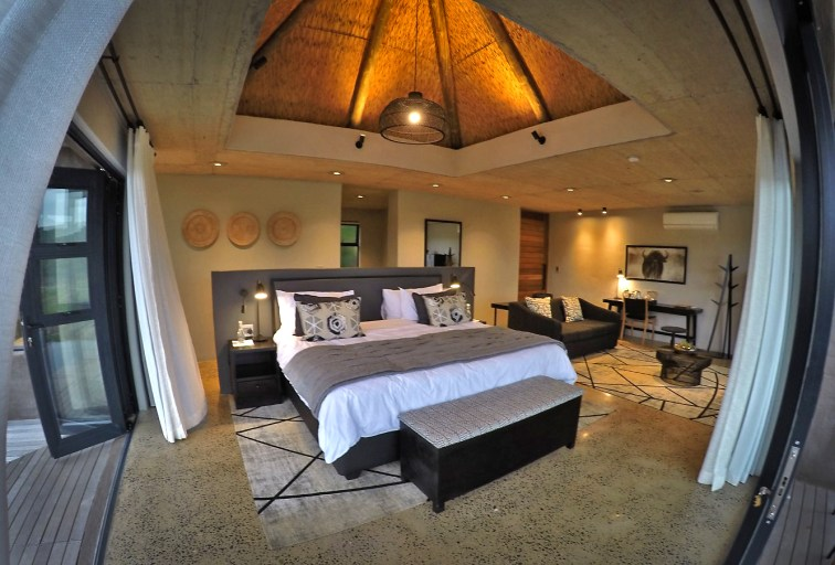 Our suite at the Umfolozi Big Five Reserve. We ain't in Kansas anymore, Dorothy.