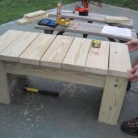 DIY Furniture:  My husband's homemade patio bench
