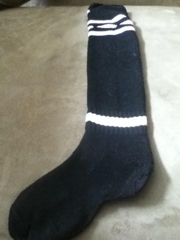 finished darned sock