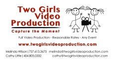 business card two girls