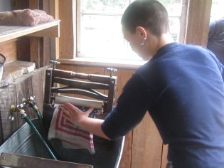 doing laundry at standing bear farm
