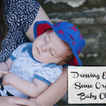 Dressing Elian with Sense Organics Baby Clothes