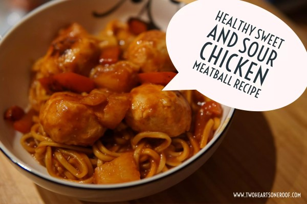 Healthy Sweet and Sour Chicken Meatball Recipe