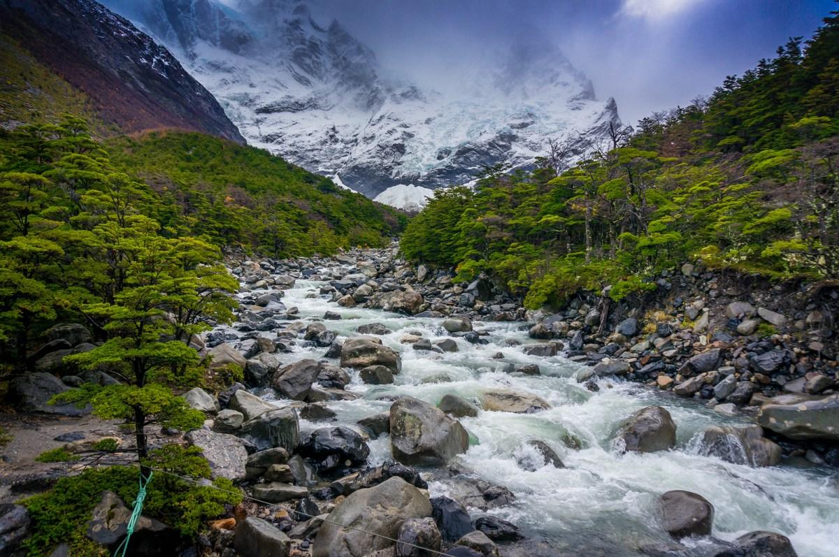 patagonien billeder flod ved ushuaia