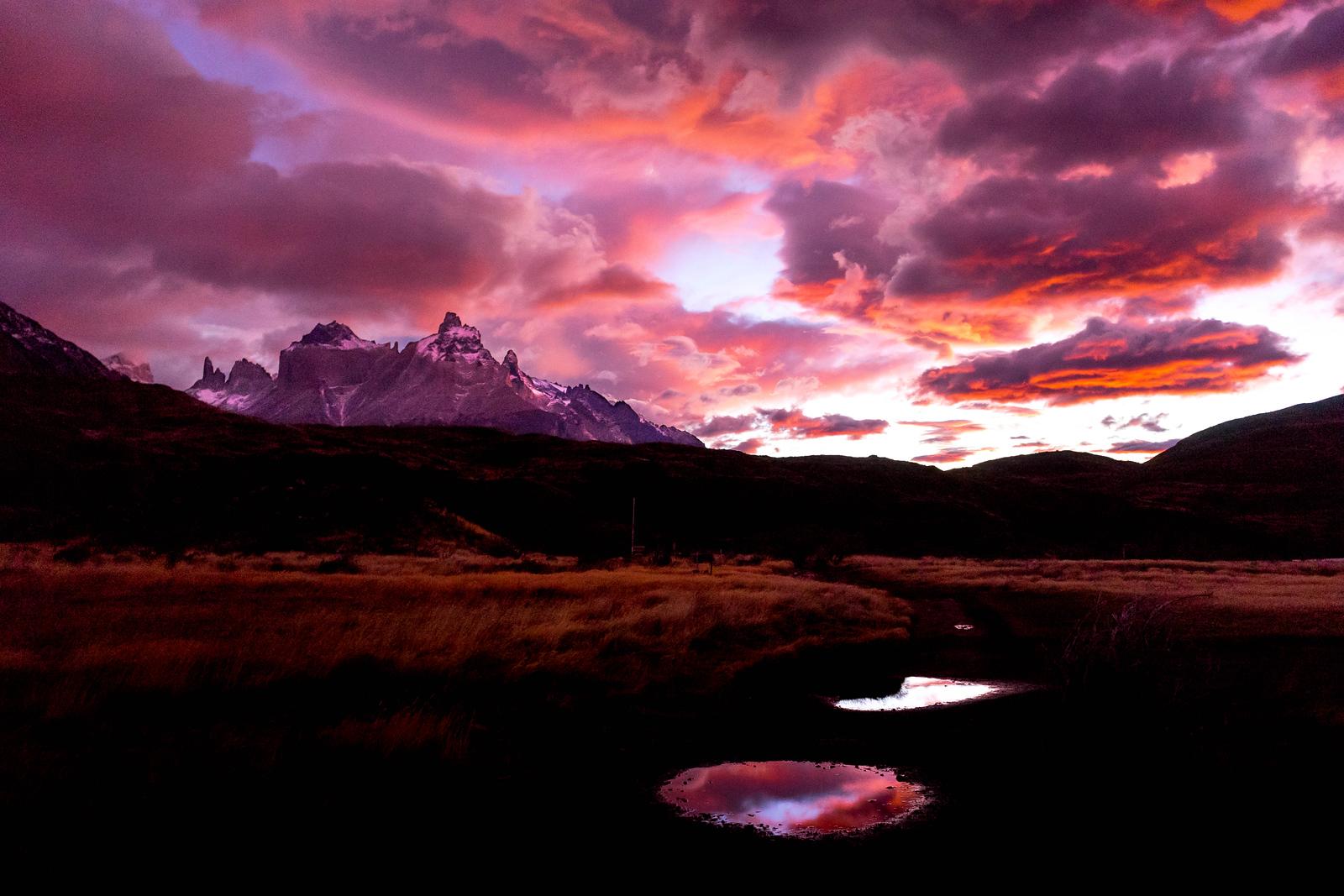 patagonien billeder torres del paine solopgang