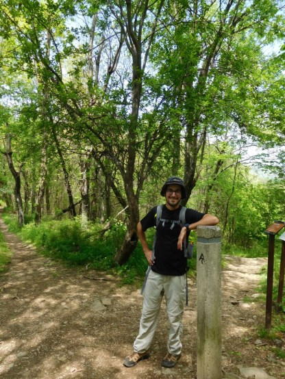 Bryan on the Appalachian Trail (AT)!