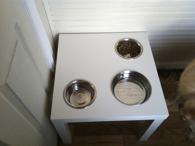 Lack Table Pet Feeder Hack Twoinspiredesign