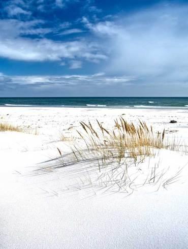 piaszczysta plaża na bornholm