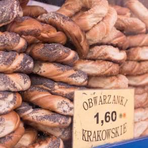 Potrawy regionalne - Krakowskie obwarzanki.