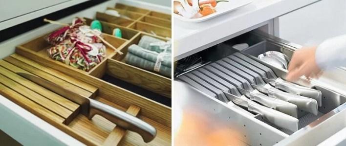 Wkład na noże do szuflad przykłady