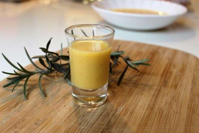 Butternut squash soup shots