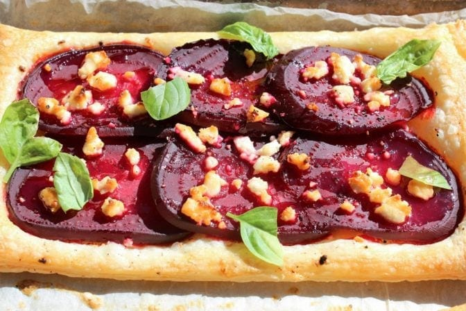 Goat Cheese and Honey Tart