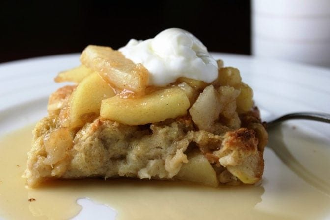 Baked apple & pear french toast