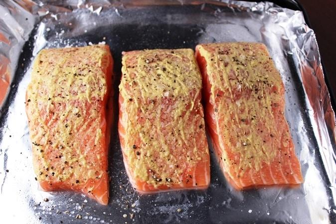 Salmon with Dijon