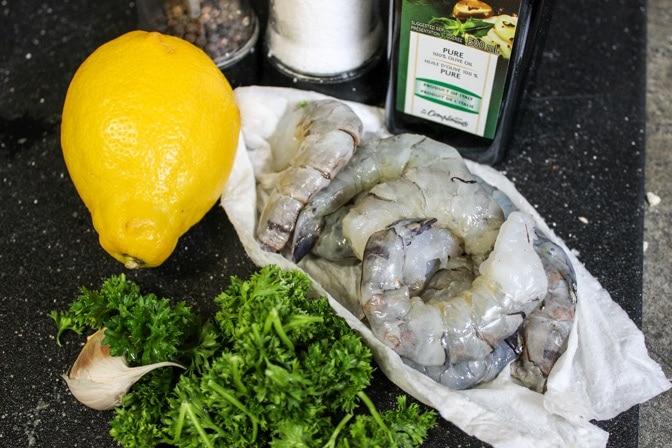 Easy Shrimp with Gremolata Dressing ingredients