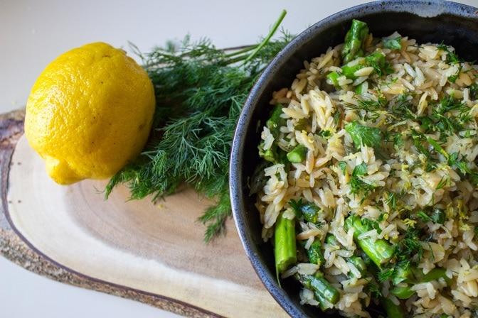 Lemon Dill Rice-Orzo (homemade rice-a-roni)