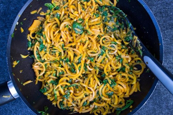 Spiralized Butternut Squash with Balsamic Butter Sauce