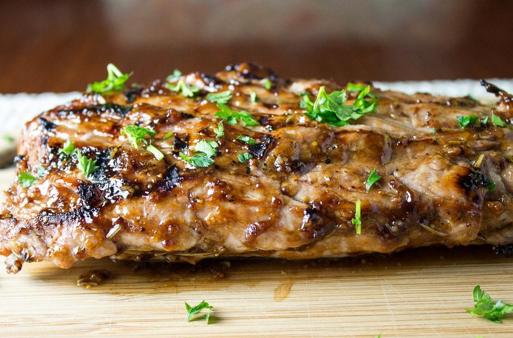 Pork Tenderloin with Balsamic Maple Mustard Glaze