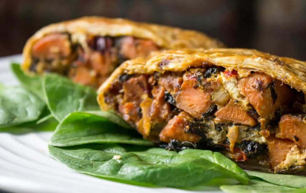 Savory Vegetable Strudel With Goat Cheese