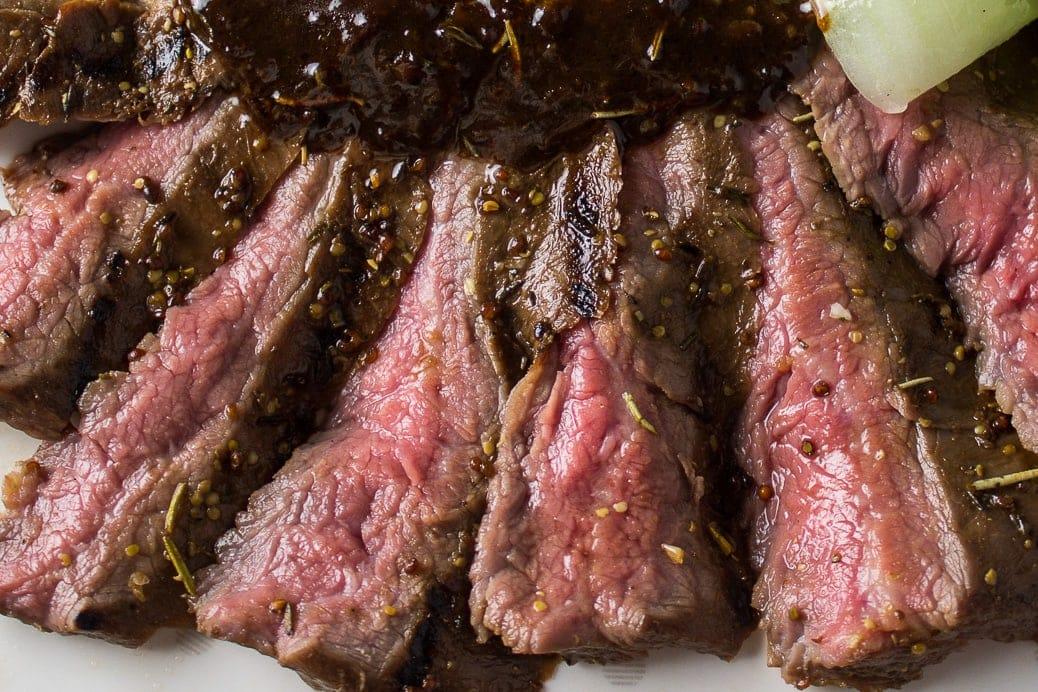Sous Vide Glazed Flank Steak