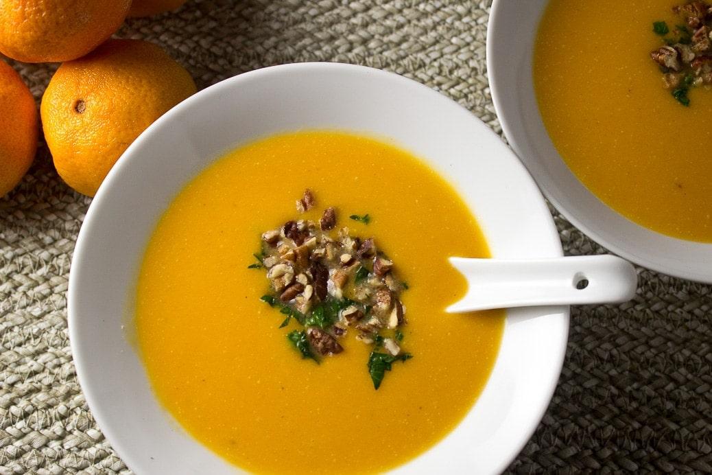 Squash, Sweet Potato & Mandarin Soup