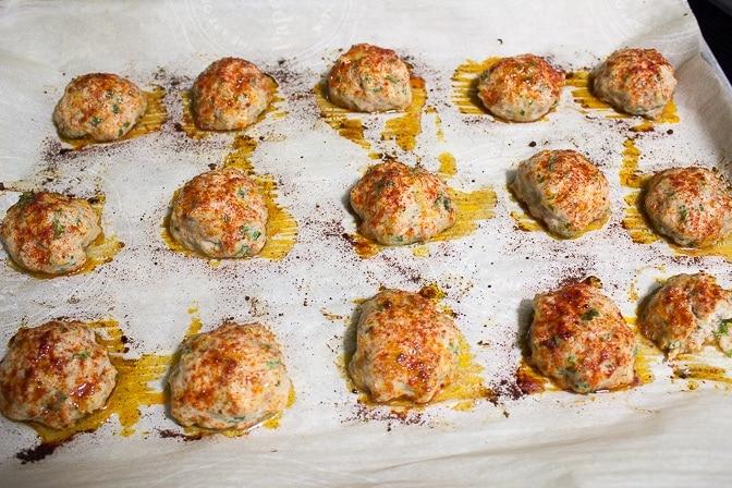 Chicken Paprikash Meatballs