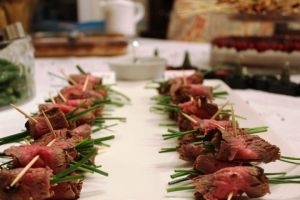 Beef roll-up appetizer